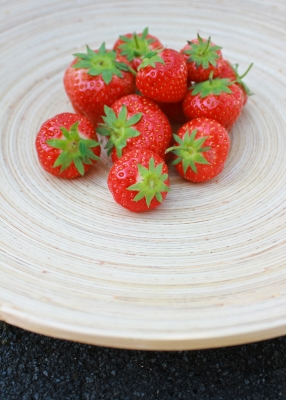 strawberries on a plate